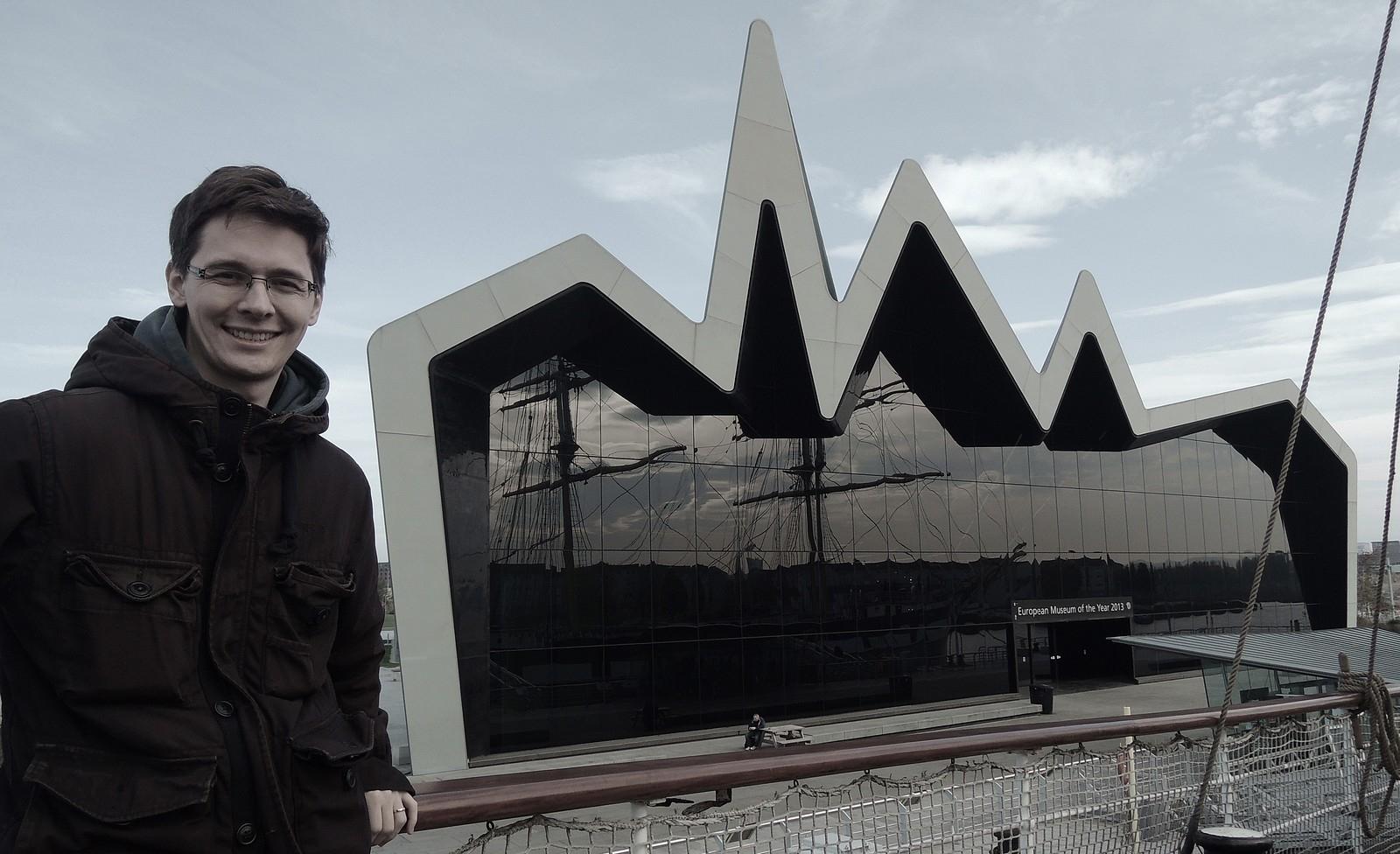 Milan Domkář - umuzea dopravy Riverside Museum od Zaha Hadid
